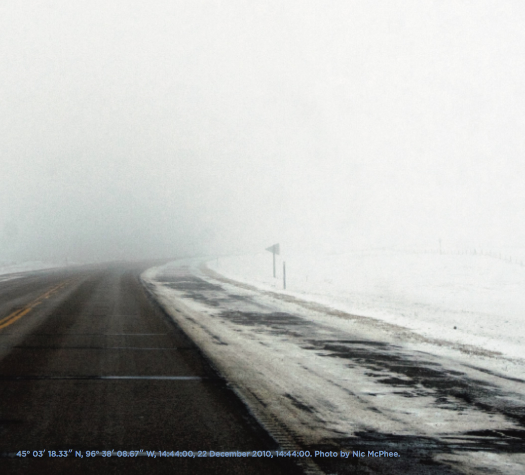 image of a desolate prairie highway in winter