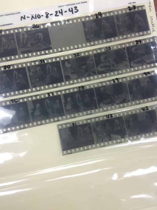strips of 35mm film negative