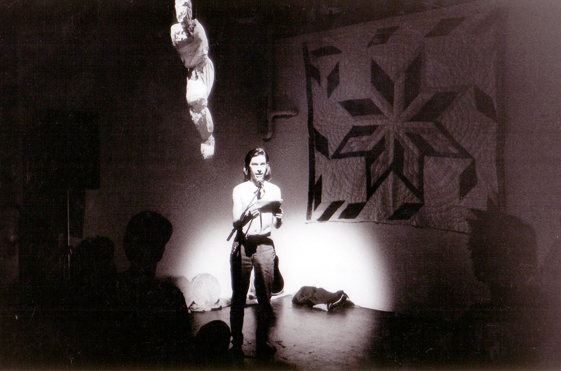 Âhasiw Maskêgon-iskwêw, Âsowaha (1995). Performance documentation.