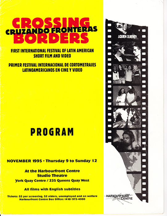 Program for Cruzando Fronteras / Crossing Borders (1995).