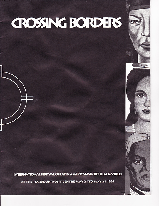 Program Cover Page from Cruzando Fronteras / Crossing Borders (1997).