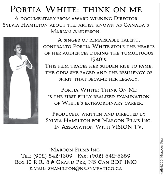 Postcard for Portia White: Think on Me (2000)