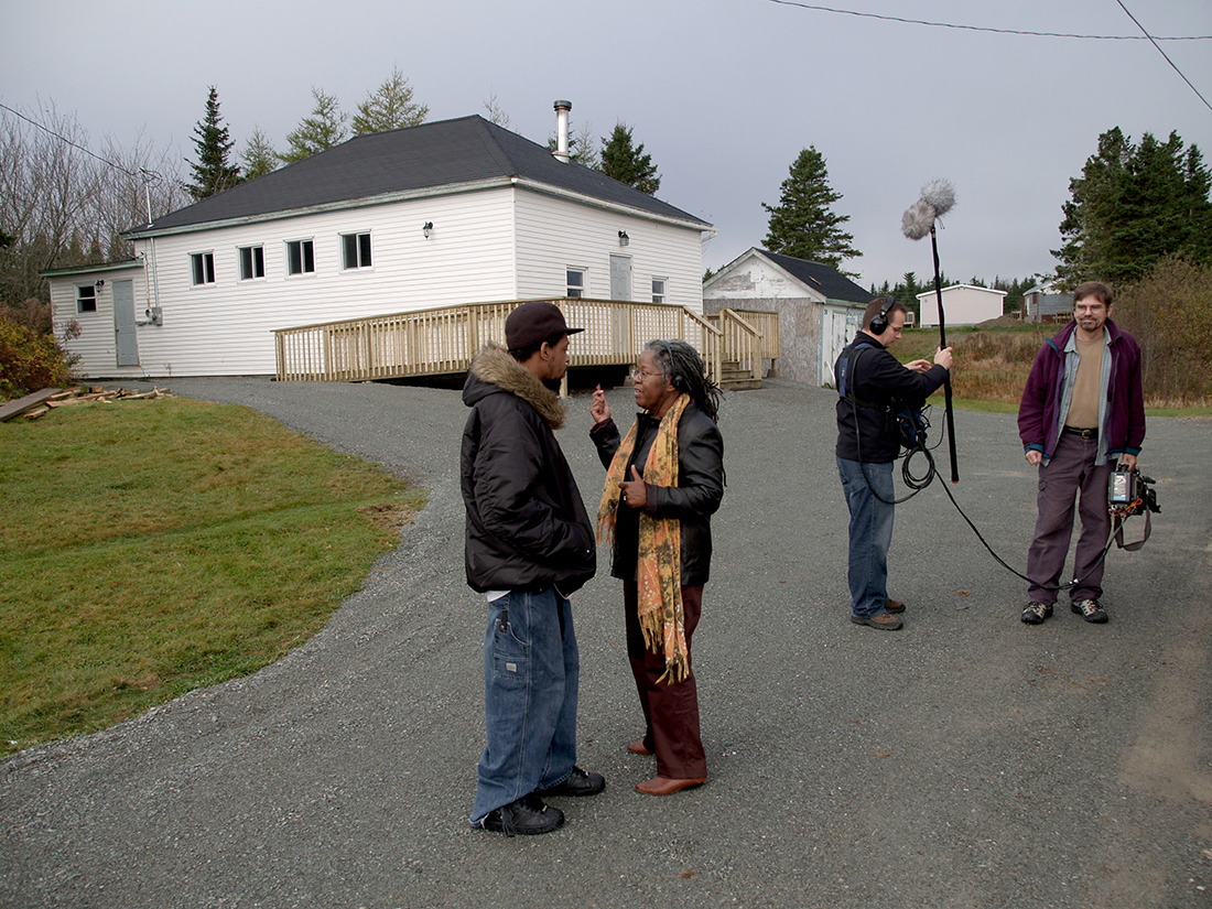 The Little Black School House (2007). Production still