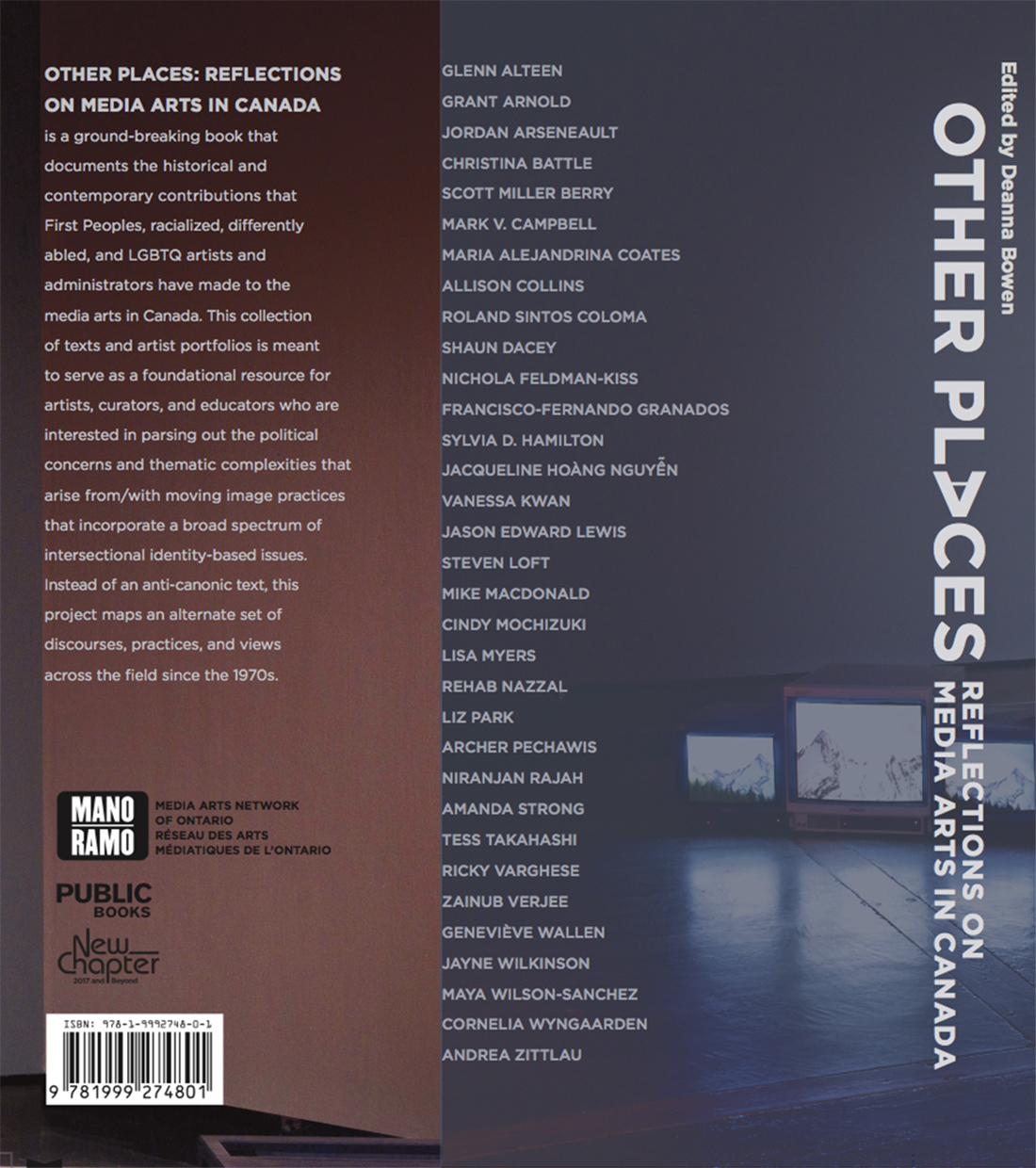 Back cover of the Other Places book